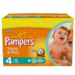 Mega pack 150 Couches Pampers Sleep & Play taille 4