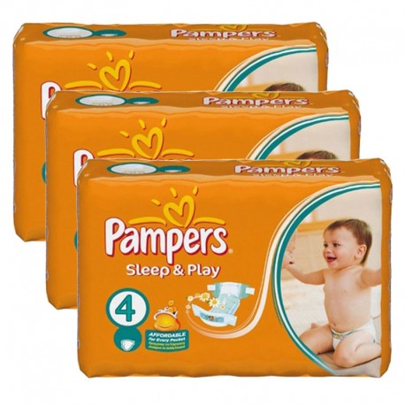 Giga pack 200 Couches Pampers Sleep & Play taille 4 sur Promo Couches