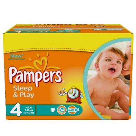 Maxi mega pack 450 Couches Pampers Sleep & Play taille 4 sur Promo Couches