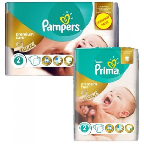 110 Couches Pampers New Baby Premium Care taille 2 sur Promo Couches