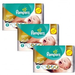 Mega pack 154 Couches Pampers New Baby Premium Care taille 2 sur Promo Couches