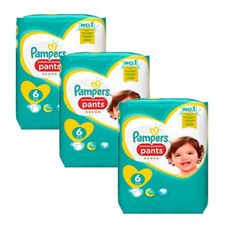 Mega pack 111 Couches Pampers Premium Protection Pants taille 6 sur Promo Couches