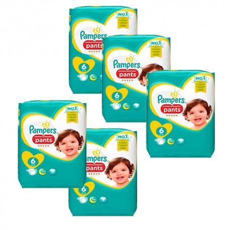 Pack 74 Couches Pampers Premium Protection Pants taille 6 sur Promo Couches