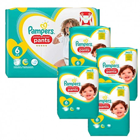 Mega pack 185 Couches Pampers Premium Protection Pants taille 6 sur Promo Couches
