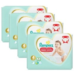 Mega pack 190 Couches Pampers Premium Protection Pants taille 4