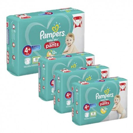Pack jumeaux 693 Couches Pampers Baby Dry Pants taille 4+ sur Promo Couches