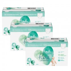 Pack jumeaux 570 Couches Pampers Pure Protection taille 4 sur Promo Couches