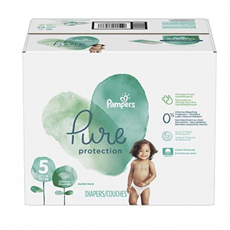 Pack 51 Couches Pampers Pure Protection taille 5 sur Promo Couches