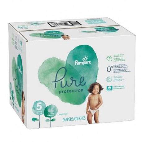 Mega pack 119 Couches Pampers Pure Protection taille 5 sur Promo Couches