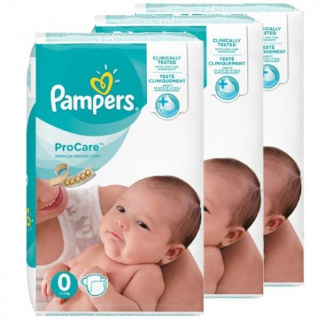 Mega pack 152 Couches Pampers ProCare Premium protection taille 0 sur Promo Couches
