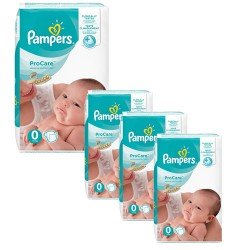 Giga pack 228 Couches Pampers ProCare Premium protection taille 0 sur Promo Couches