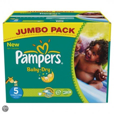 Mega pack 115 Couches Pampers Baby Dry taille 5 sur Promo Couches