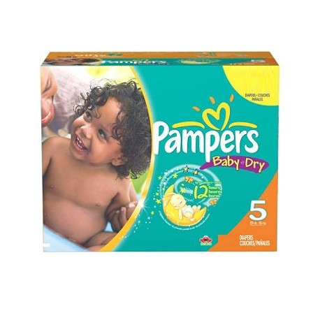 Mega pack 184 Couches Pampers Baby Dry taille 5 sur Promo Couches