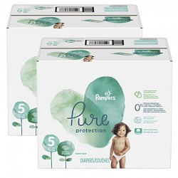 Maxi giga pack 323 Couches Pampers Pure Protection taille 5 sur Promo Couches