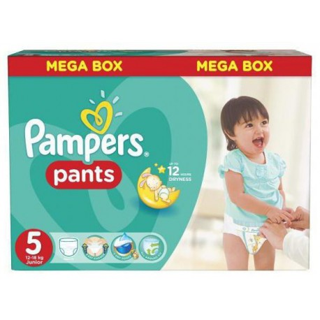 Pack 63 Couches Pampers Baby Dry Pants taille 5 sur Promo Couches