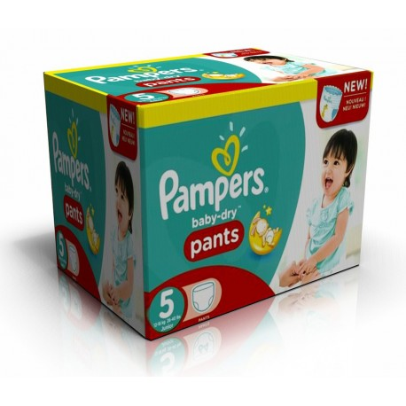 126 Couches Pampers Baby Dry Pants taille 5 sur Promo Couches