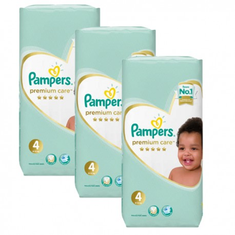 Maxi giga pack 340 Couches Pampers New Baby Premium Care taille 4 sur Promo Couches