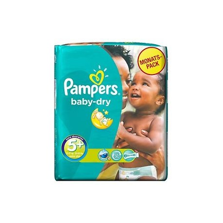 Pack 68 Couches Pampers Baby Dry taille 5+ sur Promo Couches