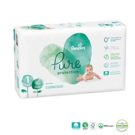 Pack 50 Couches Pampers Pure Protection sur Promo Couches