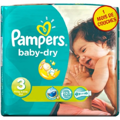 Pack 38 Couches Pampers Baby Dry sur Promo Couches