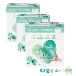 Giga pack 200 Couches Pampers Pure Protection taille 1 sur Promo Couches
