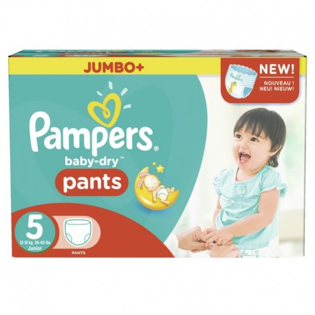 Giga pack 294 Couches Pampers Baby Dry Pants taille 5 sur Promo Couches