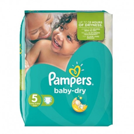 Pack 44 Couches Pampers Baby Dry taille 5 sur Promo Couches