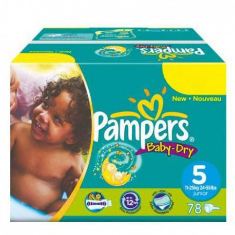 352 Couches Pampers Baby Dry taille 5 sur Promo Couches