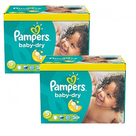 Maxi mega pack 440 Couches Pampers Baby Dry taille 5 sur Promo Couches