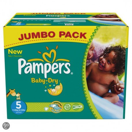 572 Couches Pampers Baby Dry taille 5 sur Promo Couches