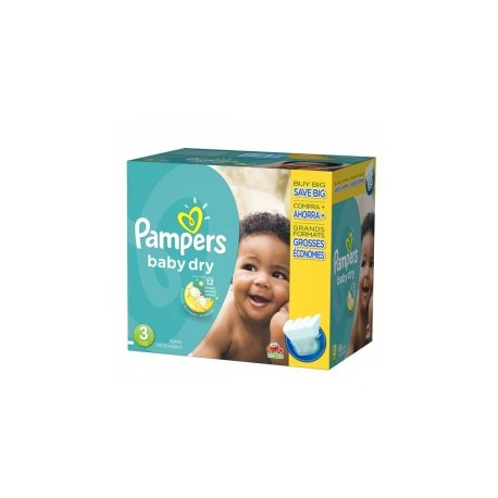 Mega pack 152 Couches Pampers Baby Dry taille 3 sur Promo Couches