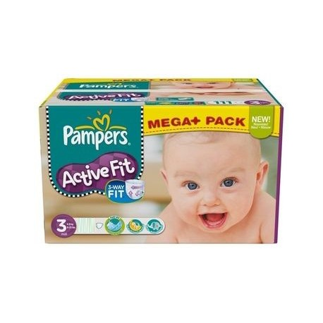 Maxi mega pack 476 Couches Pampers Active Fit taille 3 sur Promo Couches