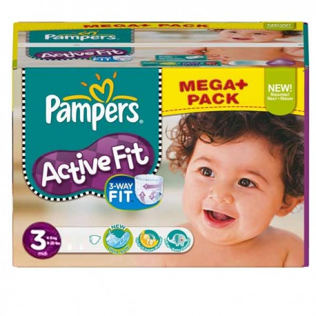 544 Couches Pampers Active Fit taille 3 sur Promo Couches