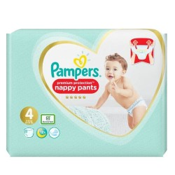 Pack 76 Couches Pampers Premium Protection Pants taille 4