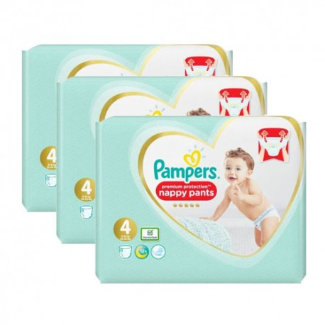 Pack jumeaux 608 Couches Pampers Premium Protection Pants taille 4 sur Promo Couches