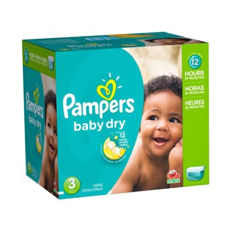 Giga pack 266 Couches Pampers Baby Dry taille 3 sur Promo Couches