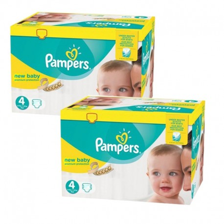 Pack jumeaux 864 Couches Pampers New Baby Premium Protection taille 4 sur Promo Couches
