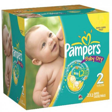 Mega pack 99 Couches Pampers Baby Dry taille 2 sur Promo Couches