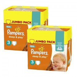 Pack jumeaux 780 Couches Pampers Sleep & Play taille 3