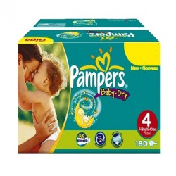 Pack jumeaux 702 Couches Pampers Baby Dry taille 4