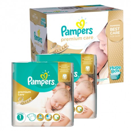 Mega pack 198 Couches Pampers New Baby Premium Care taille 1 sur Promo Couches