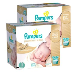 Giga pack 286 Couches Pampers New Baby Premium Care taille 1 sur Promo Couches